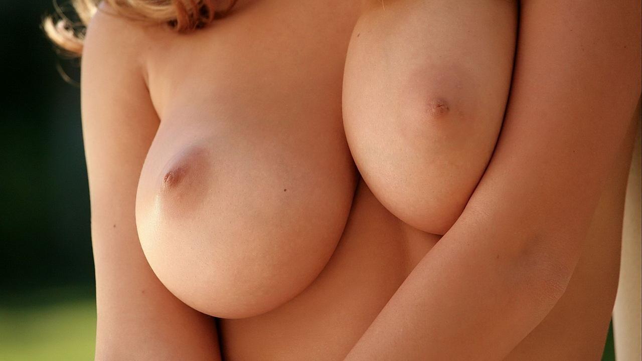 Возбужденные женские сиськи